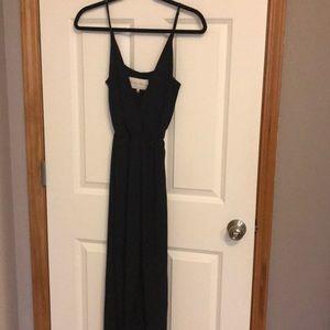 Charles Henry black Wrap Dress
